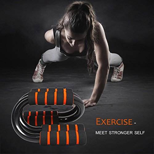 1 Pair/Set Home Push Up Stands S Shape Sponge Hand Grip Bars For Gym Exercise by CLKJYF