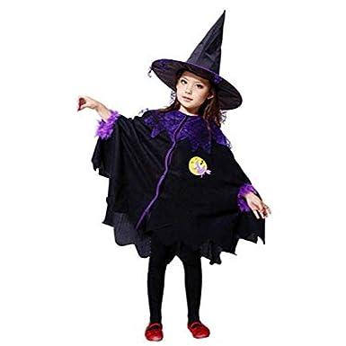 Kostüm für Kinder Mädchen,Halloween Karneval Party Kleid mit Hut ...