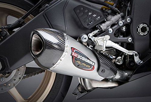 Yoshimura Alpha T Slip-On Exhaust (Street/Stainless Steel/Stainless Steel/Carbon Fiber/Works Finish) ()