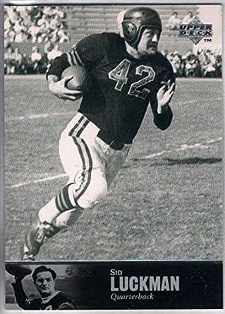 Amazon.com  Football NFL 1997 Upper Deck Legends  47 Sid Luckman ... 56b22af30