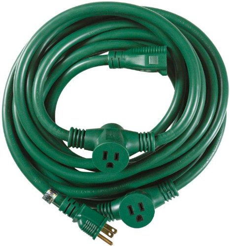 Yard Master 3030 3-Outlet Garden Extension Cord with Evenly-Spaced ...