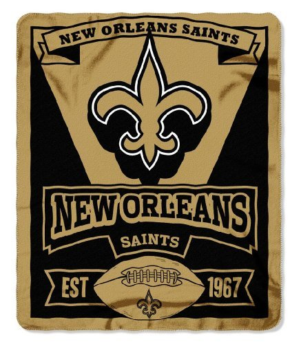 Northwest NFL New Orleans Saints Marque Printed Fleece 50
