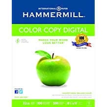 Hammermill Paper, Color Copy, 32lb, 8.5 x 11, Letter, 100 Bright, 500 Sheets / 1 Ream (102630)