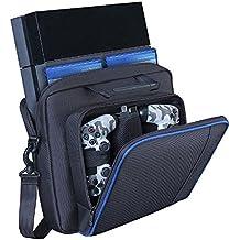 [Patrocinado] Funda de transporte para PlayStation , resistente y duradera bolsa de viaje de nailon portátil de tafetán para PS4, PS4 Slim y PS4 Pro # 81050