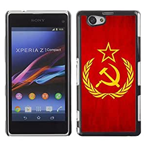 Shell-Star ( National Flag Series-Soviet Union ) Snap On Hard Protective Case For SONY Xperia Z1 mini