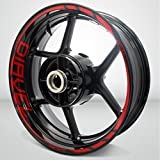 Gloss Red Motorcycle Rim Wheel Decal Accessory