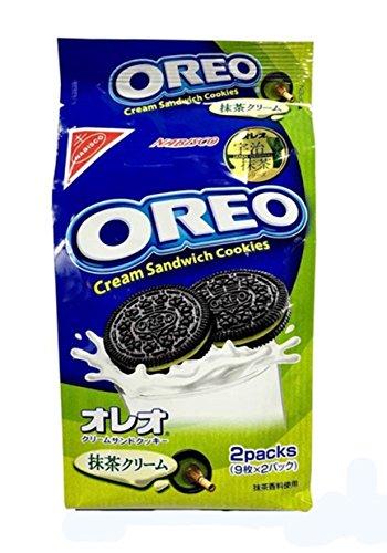 Oreo Matcha Green Tea Cream Sandwich Cookies by Nabisco Japan 6.67 Oz.