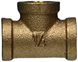 Merit Brass XNL106-04 Lead Free Brass Pipe Fitting, Tee, Class 125, 1/4'' NPT Female (Pack of 25)