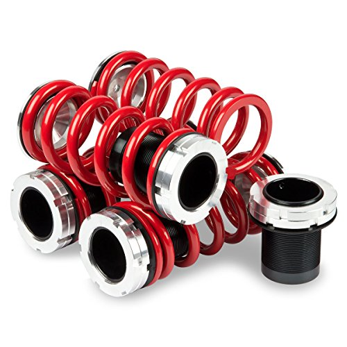 (For Mazda Miata MX-5 Aluminum Scaled Coilover Kit Set (Red Spring) - NA)