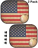 MSD Car Window Shade for Backseat (NOT Windshield) - Block Sun Glare and UV Ray for Your Child - 2 pc - Image ID: 11219583 Aged America map Vintage Artwork