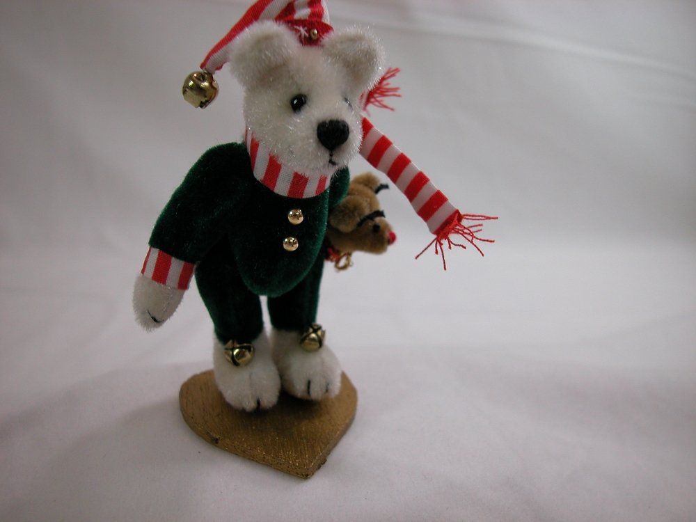 World of Miniature Bears 3.25 Plush Bear Chris  713 Collectible Miniature Made by Hand