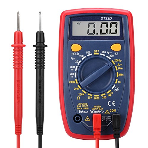 Digital Multimeters, Electronic Amp Volt Ohm Voltage Meter Multimeter with Diode and Continuity Test , Backlight LCD Display