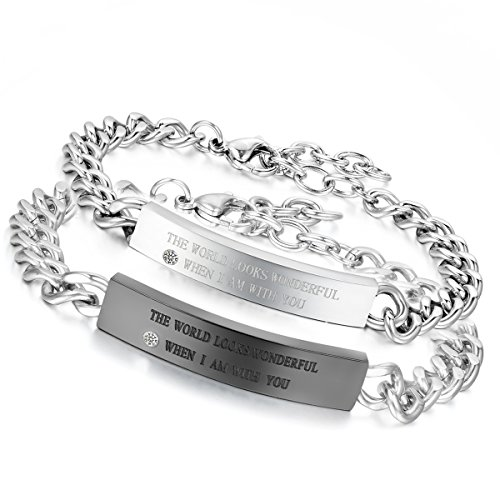 Flongo wonderful Stainless Valentine Bracelet