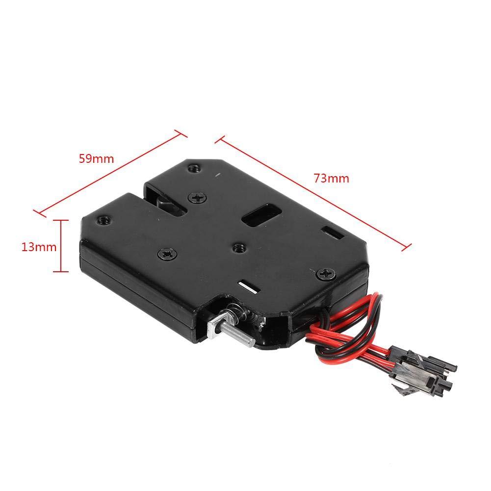 cajones Color Negro Control el/éctrico Cerradura electromagn/ética de 12 V CC Yosoo Armario de Archivos Acero para Control de Acceso de Puerta Cierre magn/ético