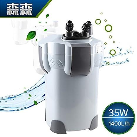 Ultra silencioso densa HW-403B filtro externo fuera del cilindro que contiene UV lámpara germicida pecera balde filtro del acuario: Amazon.es: Oficina y ...