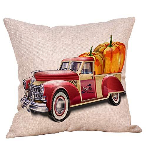 Halloween Pillow Cases,KIKOY Linen Sofa Cute Pumpkin Series Cushion Cover Home Decor
