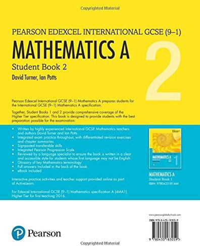Edexcel International Gcse 9 1 Mathematics A Student Book 2 Print And Ebook Bundle 9780435183059 Amazon Com Books