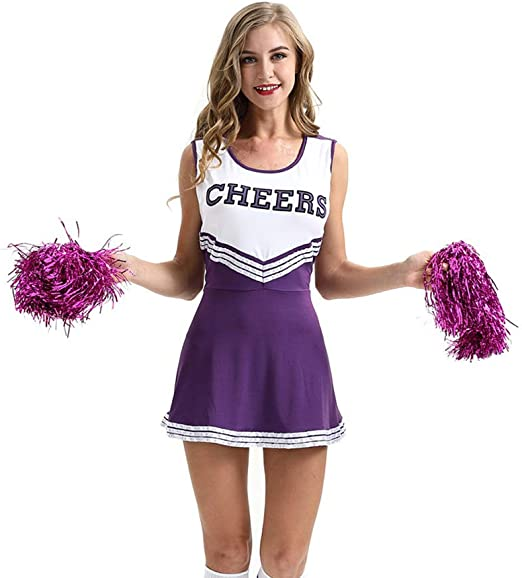 QZ Cheerleader Disfraz Uniforme de Disfraces Mujer High School ...