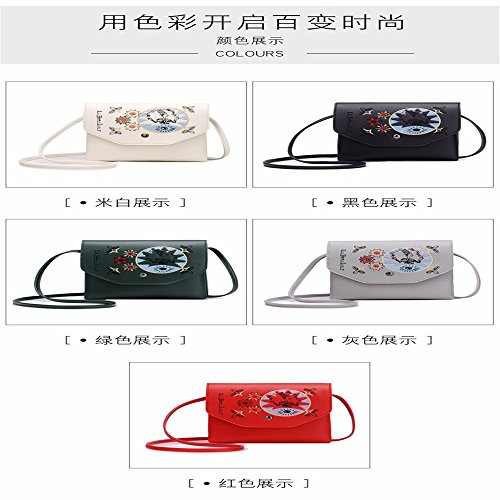 Shoulder with Bags Body MSZYZ Cross Large Pockets Small Clutch Leather Shoulder Casual Vintage Many Soft Wristlet gules Women's Capacity Shoulder PU xwvzxTqp