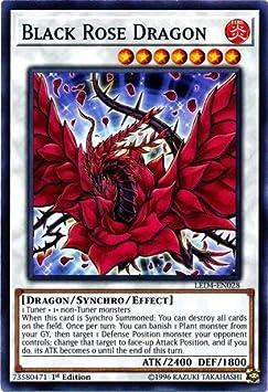 Red Rose Dragon 1st Edition Rare Near Mint LED4-EN025 English