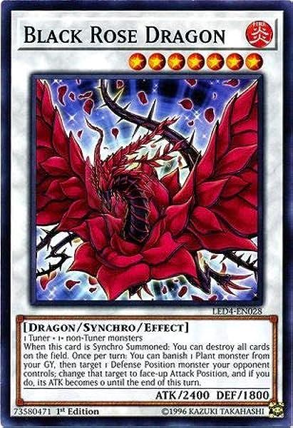 Super Rare 1st Edition Black Rose Moonlight Dragon Yugioh HSRD-EN044