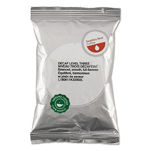 Seattle's Best Coffee SEA11008554 Level 3 Decaffeinated Best Blend Ground Coffee (Pack of 18) (Seattle's Best Decaf Coffee)