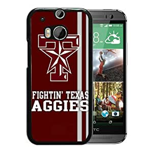 NCAA Texas A&M Aggies 06 Black HTC ONE M8 Protective Phone Cover Case
