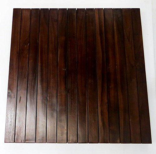 Square Teak Floor Mat, 30