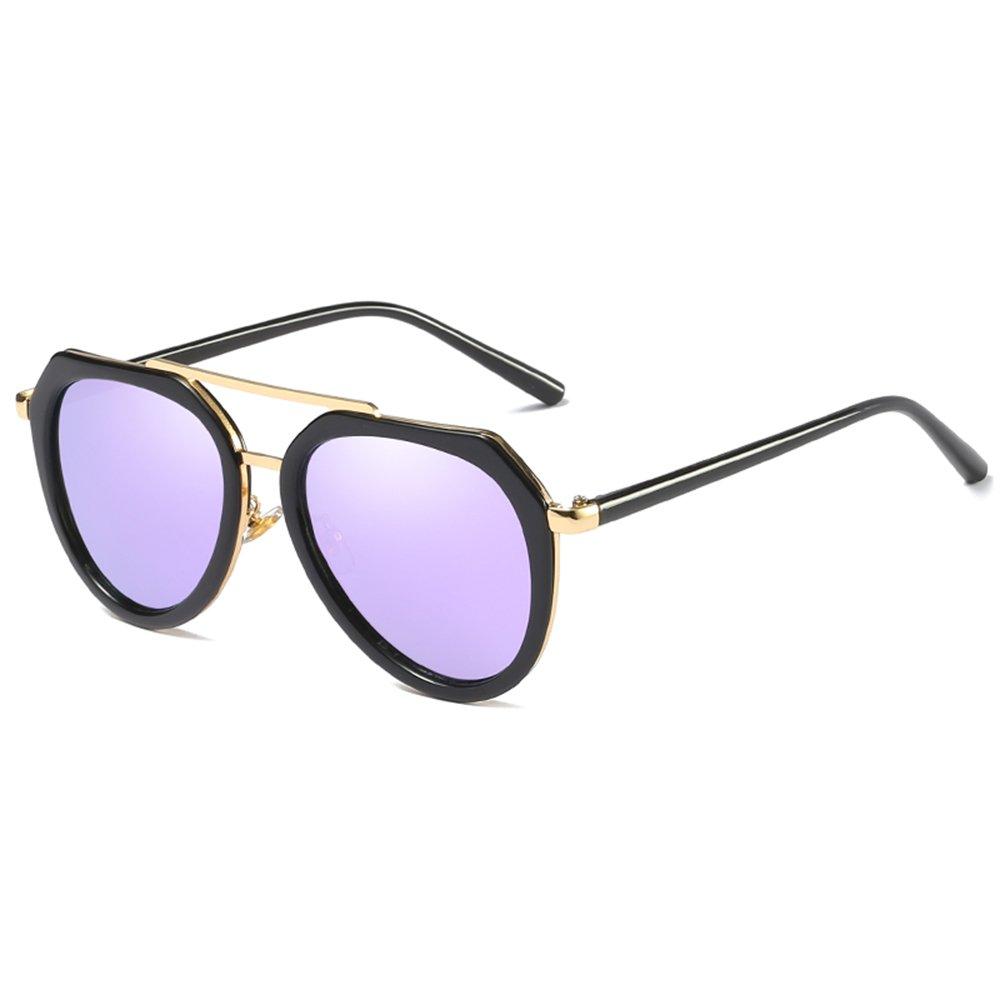 ZHIRONG Polarisierte helle große Sonnenbrille der Retro- Art und Weise, Reise-Schutzbrillen im Freien, ( Farbe : 02 )