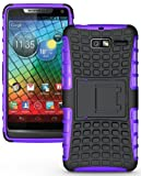 droid razr m protective case - NAKEDCELLPHONE PURPLE GRENADE RUGGED SKIN HARD CASE COVER STAND FOR VERIZON MOTOROLA DROID RAZR-M XT907 / XT901 / RAZR i XT890