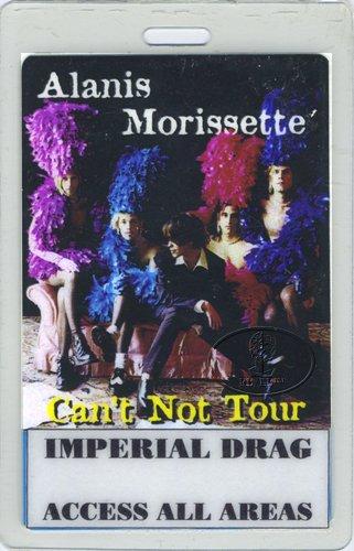 Backstage Pass Laminate - Alanis Morissette 1996 Laminated Backstage Pass