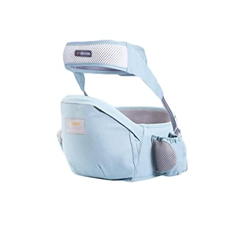 Portabeb/és para la cadera del beb/é Taburete para la cintura del beb/é para ni/ños peque/ños con bolsillo ajustable con Blue