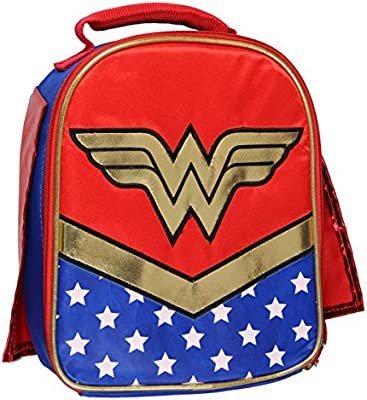 Amazon.com  DC Wonder Woman Lunch Box Soft Kit Insulated Cooler Bag With  Cape  Kitchen   Dining a9c6b0e89d