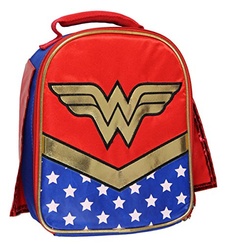 DC Wonder Woman Lunch Box Soft Kit Insulated Cooler Bag With Cape -