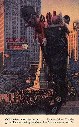 Columbus Circle New York Macys Thanksgiving Day Parade Vintage Postcard - Macy's Md