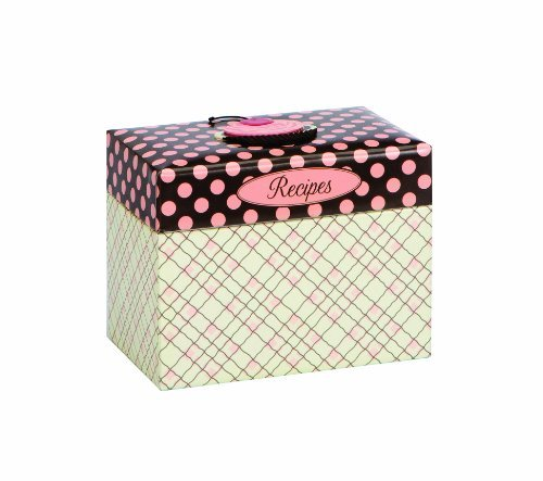 C.R. Gibson 4 by 6-Inch Recipe File Box, Jessie Steele Cherry Cupcakes Home Supply Maintenance Store