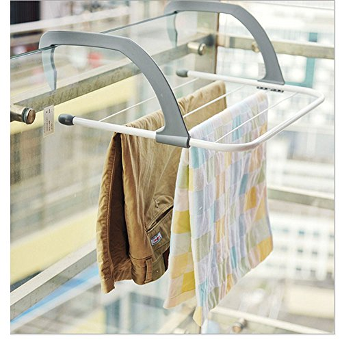 Gobuy Foldable Windowsill Outdoors Balcony Multifunction s Dry Hanger