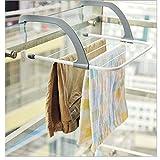 Ladyfavor Foldable Drying Rack Towel Socks Shoes Clothes Hanger