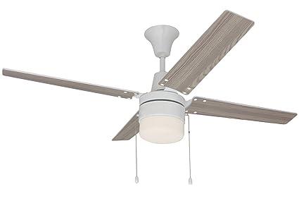 Craftmade ceiling fan with light con48w4c1 wakefield antique white craftmade ceiling fan with light con48w4c1 wakefield antique white 48 inch bedroom fan aloadofball Gallery