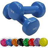 BB Sport 2 x haltère en vinyle 0,5-5 kg différentes couleurs et poids