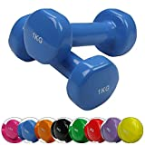 BB Sport 2 x Vinyl Dumbbell 0.5-5 kg Vinyl-Dumbbell Set in, Weight Plates:2 x 4 kg