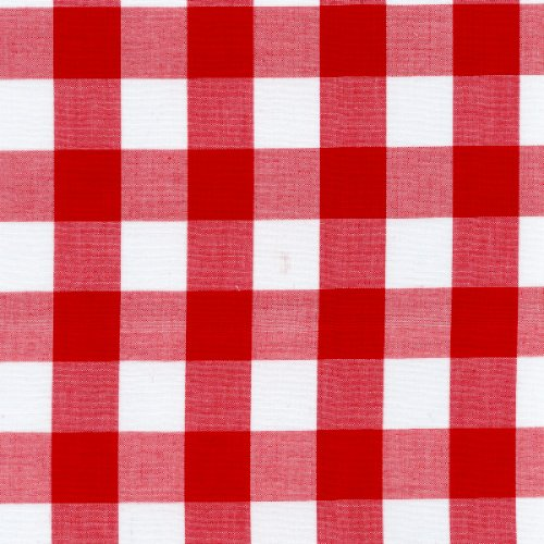 Red Gingham Check Fabric (1