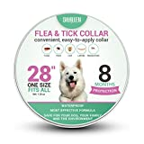 Flea and Tick Collar for Dogs - Prevention and Control Fleas - Ticks - Lice and Pests for 8 Months - Hypoallergenic and Safe Design - 1 Size Fully Adjustable Waterproof Puppy Collar