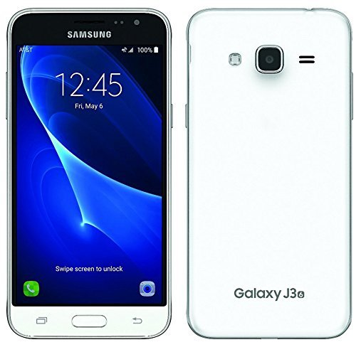 Samsung Galaxy J3 (2016) Duos SM-J320H/DS 8GB Dual SIM Unlocked GSM Smartphone - International Version, No Warranty (White) (Samsung Y Duos)