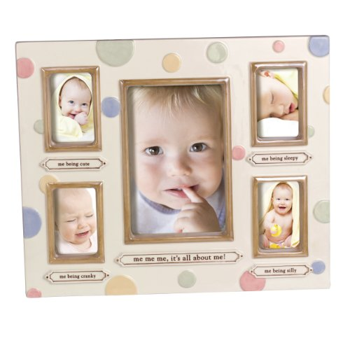 Grasslands Road Dot Dot Dot Stoneware Multiple Opening Frame, Me Me Me, 9-3/4 by 11-3/4-Inch, Baby & Kids Zone