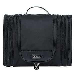 EGOGO Large Travel Toiletry Bag for Men & Women Hanging Wash Bag Cosmetic Makeup Shaving Bag E528-5 (Black)