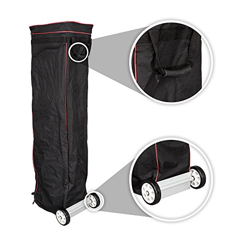 Vispronet - Universal 10x15 Canopy Bag with Wheels - Easy Pop Up Bag, Heavy Duty Wheels, Interior Storage Pockets and Straps - Design Allows for Easy Packing and Unpacking, Easy Transportation