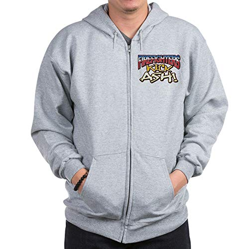 Royal Lion Zip Hoodie Firefighters Kick Ash Exclamation - Small