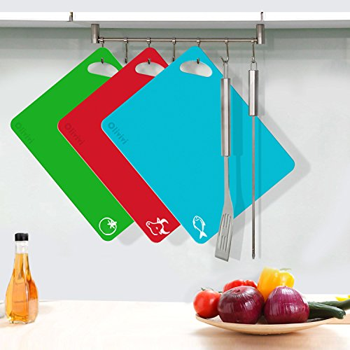 Extra Thick Flexible Plastic Kitchen Cutting Board Mats