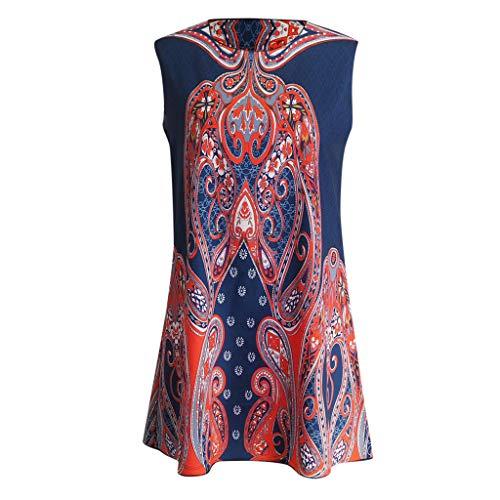 Fiesta Vestidos Tallas Verano Grandes Vestido Slyar De Moda Casual Naranja 2019 Mujer UOEwnfq